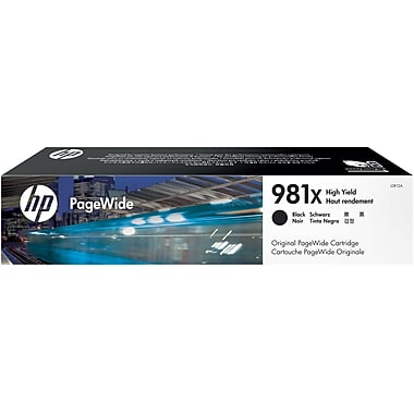 HP 981X (L0R12A) PageWide Enterprise Color 556 586 Managed Color E55650 E58650 High Yield Black Original PageWide Cartridge (11000 Yield)