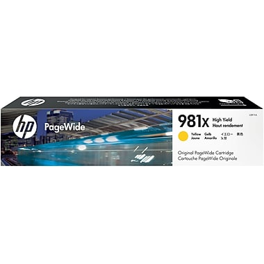 HP 981X (L0R11A) PageWide Enterprise Color 556 586 Managed Color E55650 E58650 High Yield Yellow Original PageWide Cartridge (10000 Yield)