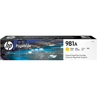 HP 981A (J3M70A) PageWide Enterprise Color 556 586 Managed Color E55650 E58650 Yellow Original PageWide Cartridge (6000 Yield)