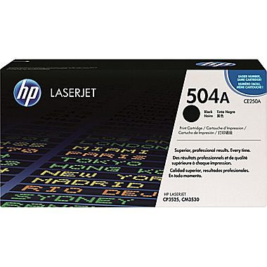 HP HP 504A (CE250A) Black Original LaserJet Toner Cartridge (5000 Yield)