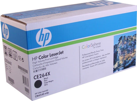 HP 646X (CE264X) Black Original LaserJet Toner Cartridge (17000 Yield)