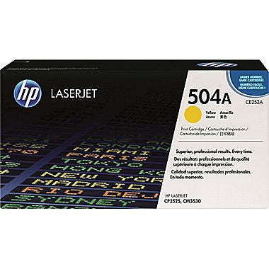 HP 504A (CE252A) Yellow Original LaserJet Toner Cartridge (7000 Yield)
