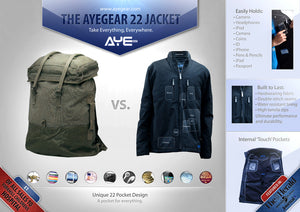 AyeGear 22 - Jacket , Jacket - AyeGear, AyeGear - Travel Clothing, Carry Your iPad | Travel Vests | Hoodies | Jackets | Tees  - 11