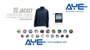 AyeGear 22 - Jacket , Jacket - AyeGear, AyeGear - Travel Clothing, Carry Your iPad | Travel Vests | Hoodies | Jackets | Tees  - 13