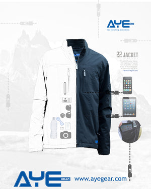 AyeGear 22 - Jacket , Jacket - AyeGear, AyeGear - Travel Clothing, Carry Your iPad | Travel Vests | Hoodies | Jackets | Tees  - 4
