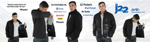 AyeGear 22 - Jacket , Jacket - AyeGear, AyeGear - Travel Clothing, Carry Your iPad | Travel Vests | Hoodies | Jackets | Tees  - 3