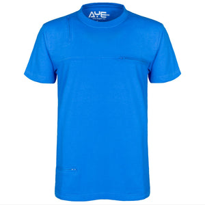 AyeGear 5 Pocket Tshirt Small / Ocean Blue, Tshirt - AyeGear, AyeGear - Travel Clothing, Carry Your iPad | Travel Vests | Hoodies | Jackets | Tees  - 14