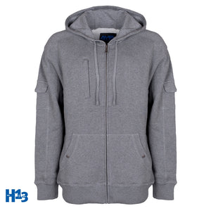 AyeGear H13 - Hoodie Heather Grey / Small, Hoodie - AyeGear, AyeGear - Travel Clothing, Carry Your iPad | Travel Vests | Hoodies | Jackets | Tees  - 10