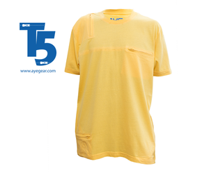 AyeGear 5 Pocket Tshirt Small / Mustard Yellow, Tshirt - AyeGear, AyeGear - Travel Clothing, Carry Your iPad | Travel Vests | Hoodies | Jackets | Tees  - 10