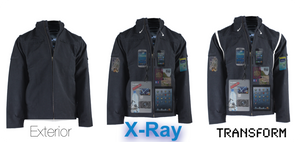 Removable sleeves jacket, gadget clothing