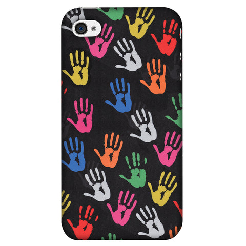 Color Palms Slim Hard Shell Case For Apple iPhone 4-4S