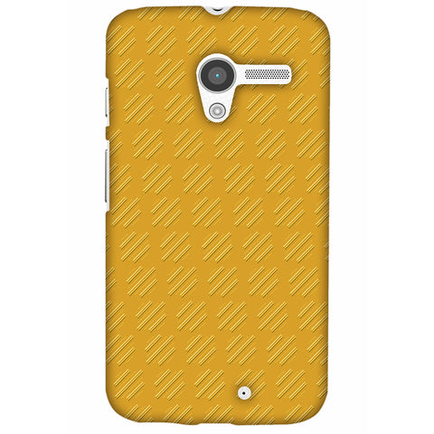 Retro Lines Shape Slim Hard Shell Case For Motorola Moto X