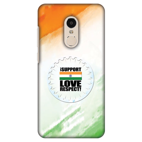 I Support Love India Slim Hard Shell Case For Xiaomi Redmi Note 4