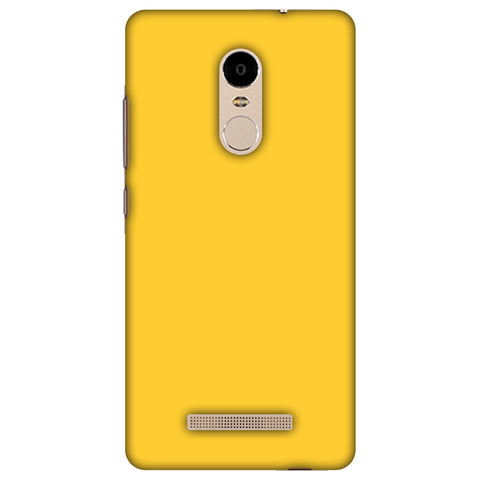 Bumblebee Yellow Slim Hard Shell Case For Xiaomi Redmi Note 3