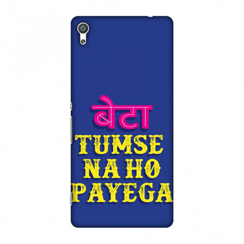 Tumse Naa Ho Payega Slim Hard Shell Case For Sony Xperia XA
