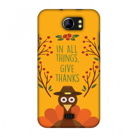 Thanksgiving:Wise Turkey 1 Slim Hard Shell Case For Micromax Canvas 2 A110
