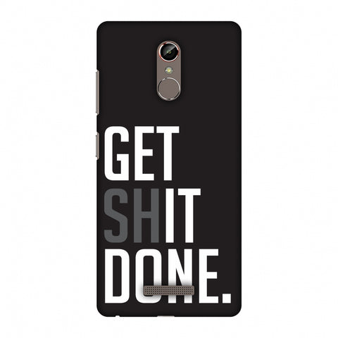 Get Shit Done Slim Hard Shell Case For Gionee S6s