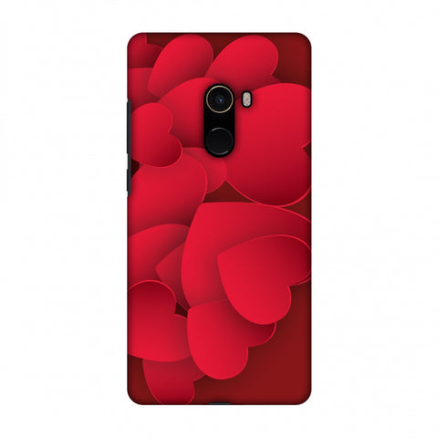Red Hearts Slim Hard Shell Case For Xiaomi Mi Mix 2