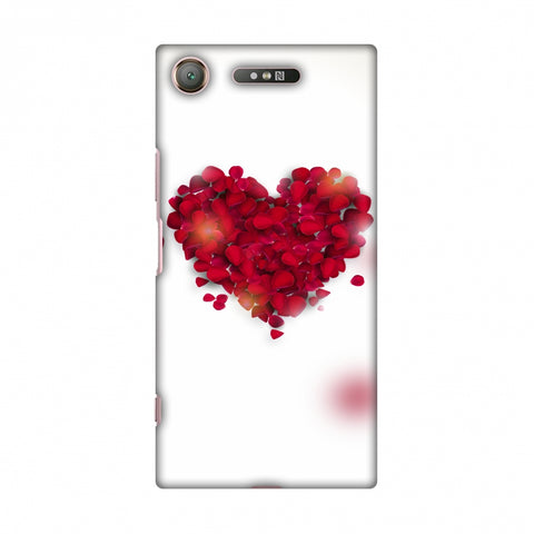 Rose Heart Slim Hard Shell Case For Sony Xperia XZ1