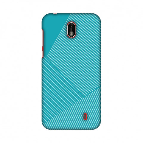 Carbon Fibre Redux Aqua Blue 1 Slim Hard Shell Case For Nokia 1