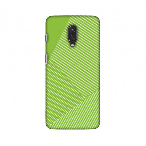 Carbon Fibre Redux Pear Green 1 Slim Hard Shell Case For OnePlus 6T