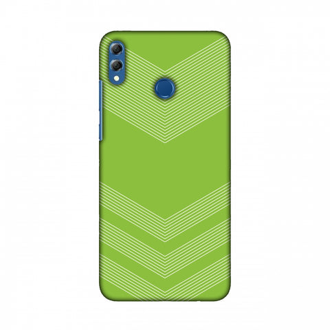 Carbon Fibre Redux Pear Green 2 Slim Hard Shell Case For Huawei Honor 8X Max