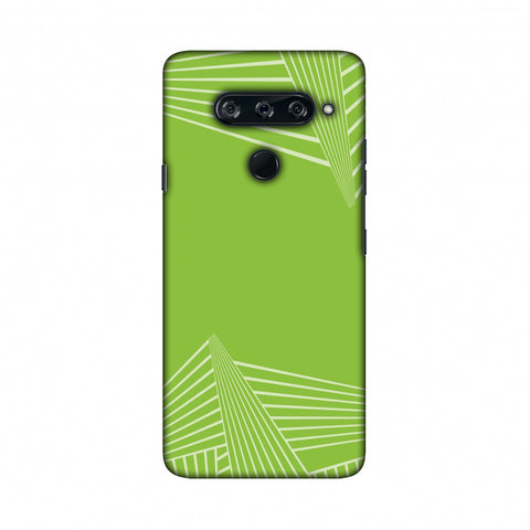 Carbon Fibre Redux Pear Green 3 Slim Hard Shell Case For LG V40 ThinQ