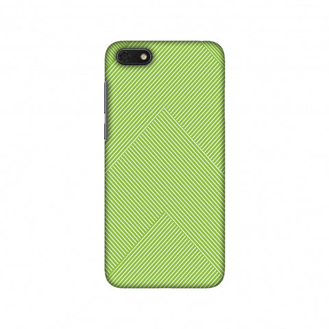 Carbon Fibre Redux Pear Green 4 Slim Hard Shell Case For Huawei Honor 7S