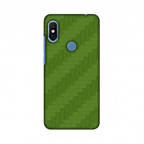 Carbon Fibre Redux Pear Green 8 Slim Hard Shell Case For Xiaomi Redmi Note 6 Pro
