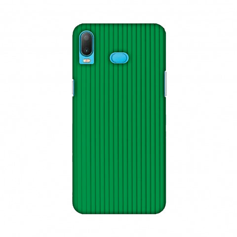 Carbon Fibre Redux Pear Green 16 Slim Hard Shell Case For Samsung A6s