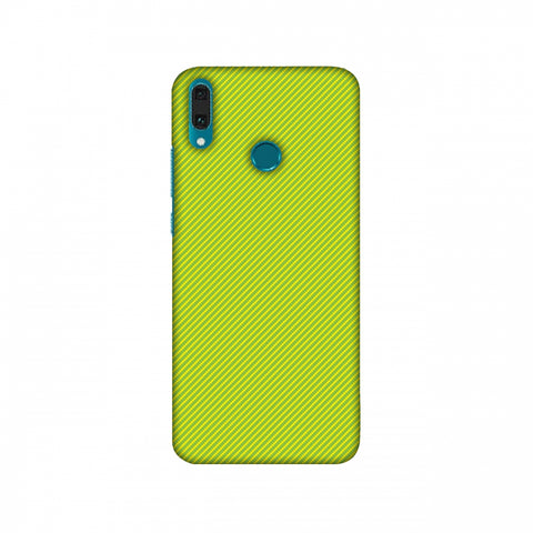 Carbon Fibre Redux Pear Green 17 Slim Hard Shell Case For Huawei Y9