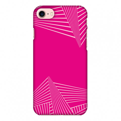 Carbon Fibre Redux Hot Pink 3 Slim Hard Shell Case For Apple iPhone 7