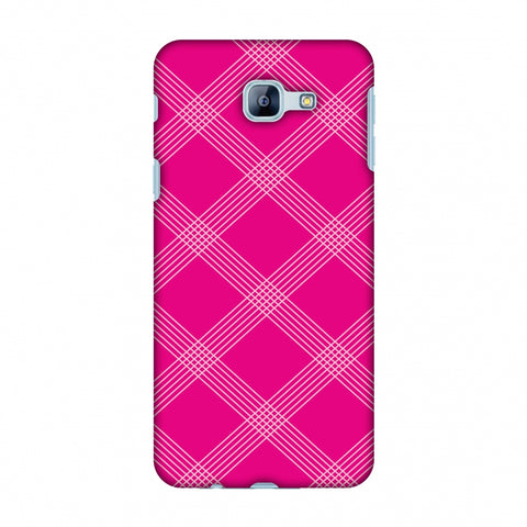 Carbon Fibre Redux Hot Pink 5 Slim Hard Shell Case For Samsung Galaxy A8 2016