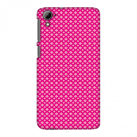 Carbon Fibre Redux Hot Pink 7 Slim Hard Shell Case For HTC Desire 826