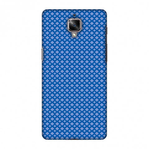 Carbon Fibre Redux Coral Blue 7 Slim Hard Shell Case For OnePlus 3-3T