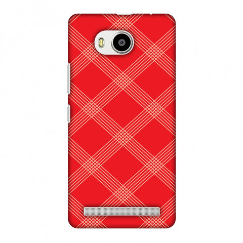 Carbon Fibre Redux CAndy Red 5 Slim Hard Shell Case For Lenovo A7700