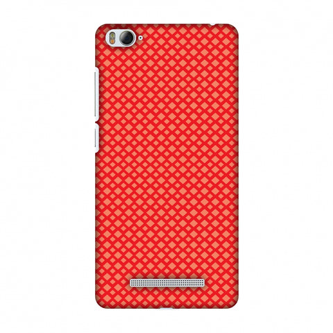 Carbon Fibre Redux CAndy Red 7 Slim Hard Shell Case For Xiaomi Mi 4i