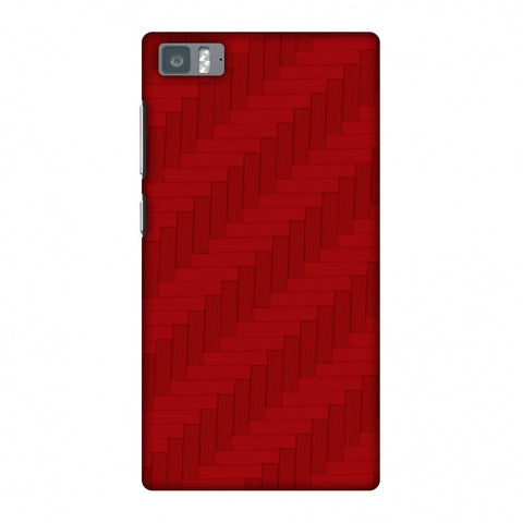 Carbon Fibre Redux CAndy Red 8 Slim Hard Shell Case For Xiaomi Mi 3