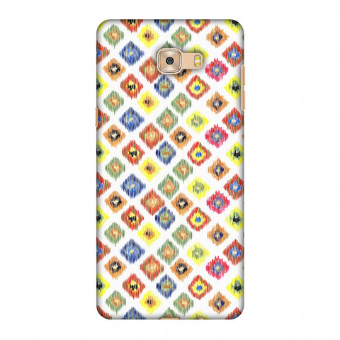 Ikats - Brights Slim Hard Shell Case For Samsung Galaxy C7 Pro