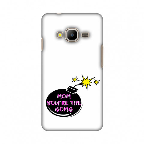 Mom You Are The Bomb - Beige Slim Hard Shell Case For Samsung Z2