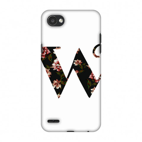 Floral Fill - W Slim Hard Shell Case For LG Q6
