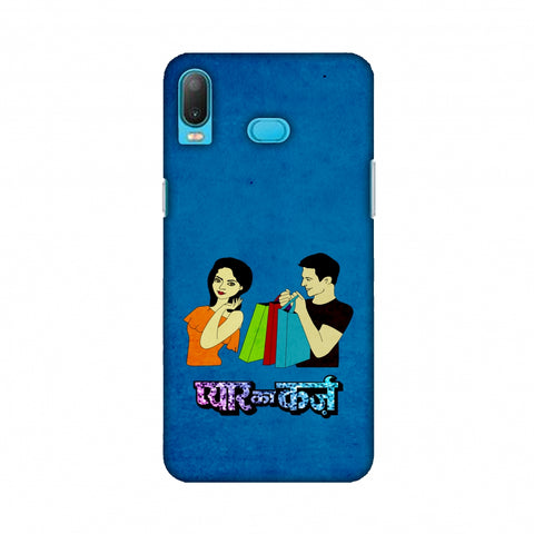 Pyaar Ka Karz - Blue Slim Hard Shell Case For Samsung A6s