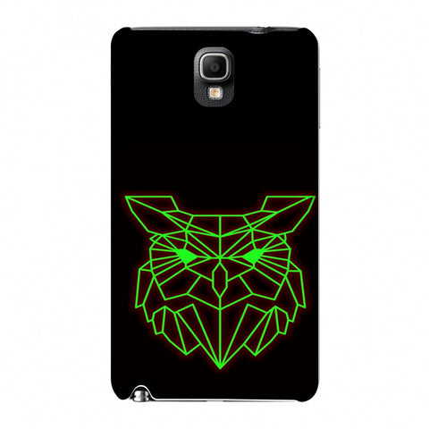 Owl - Neon Green Slim Hard Shell Case For Samsung GALAXY Note 3