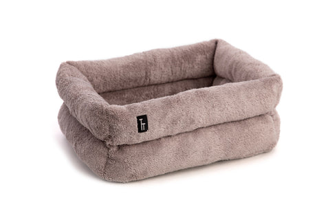 Luxury Grey Double Doughnut Cat Bed - Tigga Towers