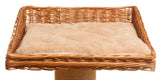 Square wooden cat basket bed - Tigga Towers