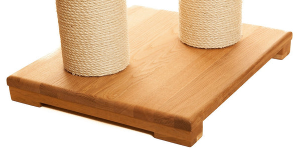 Oak cat scratching tower base - Tigga Towers