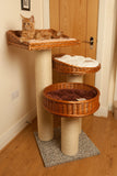 Deluxe cat scratching post with kitten - Tigga Towers