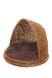 Wicker cat Igloo bed - Tigga Towers