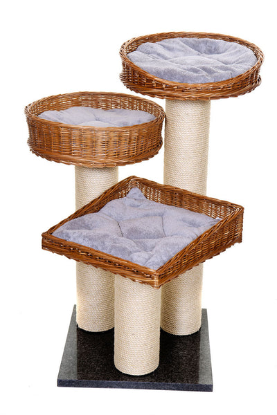 Luxury cat scratching tower, Blue - Tigga Towers