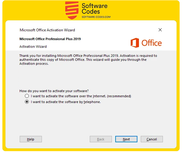 Microsoft Office Phone Activation Software Codes